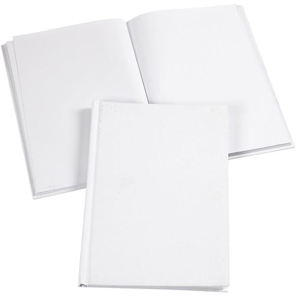 Carnet de notes à décorer - A5 - Blanc - Photo n°1