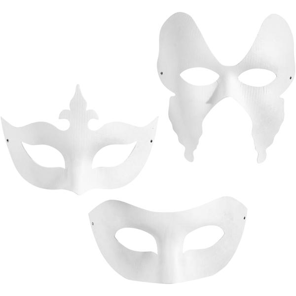 Assortiment masque de venise blanc - 12 pcs - Photo n°1