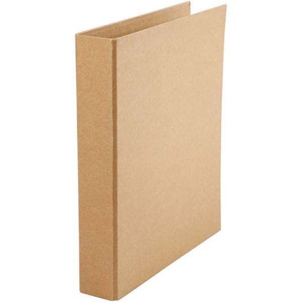 Classeur 2 anneaux - Carton brut - 5 x 28 x 31,5 cm - Photo n°1