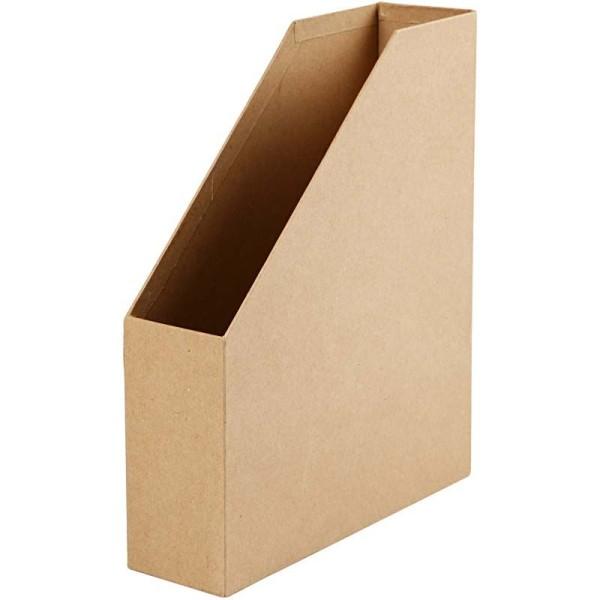 Porte-revues en carton à décorer - 31,5 x 25,5 cm - Photo n°1