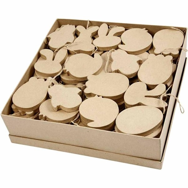 Décorations de Pâques en papier mâché à suspendre - 10 cm - 114 pcs - Photo n°1