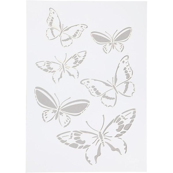 Pochoir A4 Papillon - 1 pce - Photo n°1