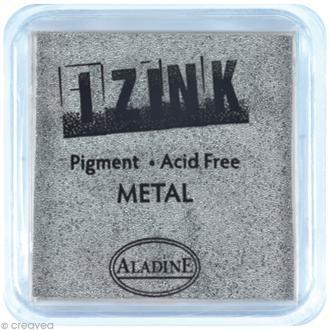 Encreur à pigment Izink Aladine - Argent métallique