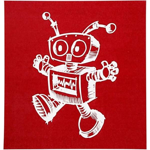 Pochoir Robot - 20 x 22 cm - 1 pce - Photo n°1