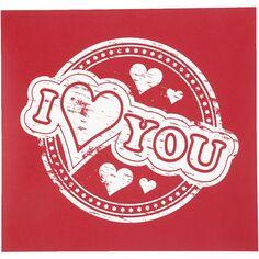 Pochoir I Love You- 20 x 22 cm - 1 pce