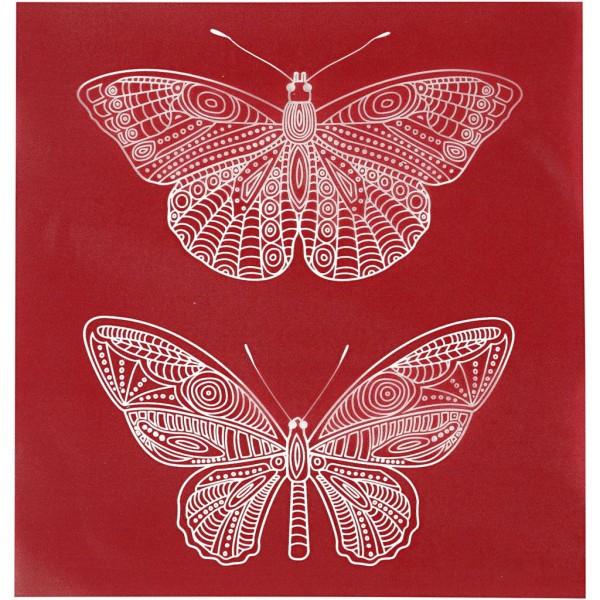 Pochoir Papillons - 20 x 22 cm - 1 pce - Photo n°1