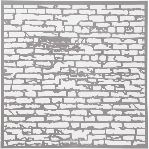 Pochoir Briques - 30,5 x 30,5 - 1 pce - Photo n°1