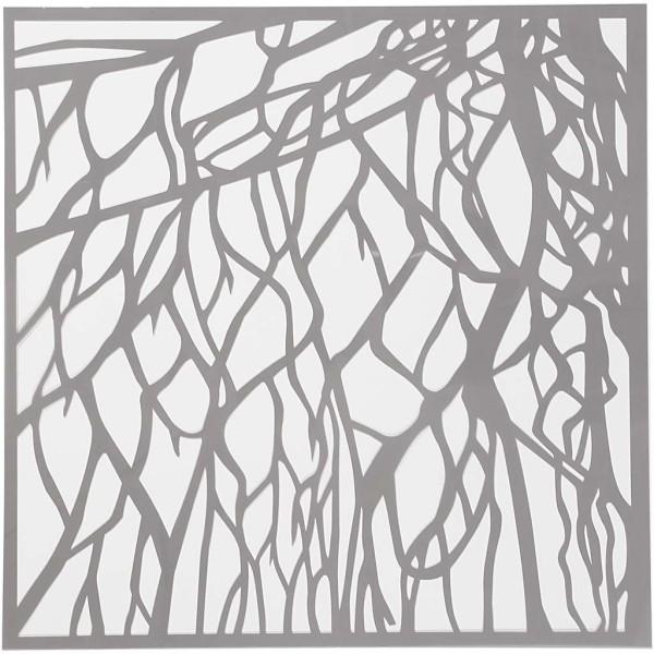 Pochoir Branches - 30,5 x 30,5 - 1 pce - Photo n°1