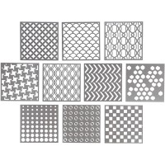 Pochoirs multimotifs - 30,5 x 30,5 - 10 pièces
