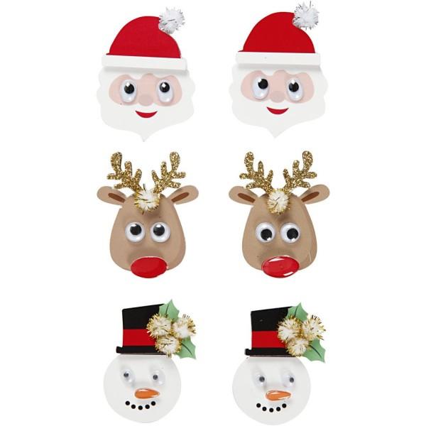 Stickers 3D en papier - Noël - 6 pcs - Photo n°1