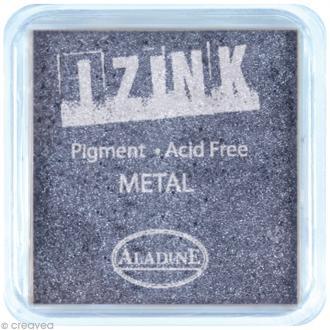 Encreur à pigment Izink Aladine - Bleu argenté métallique