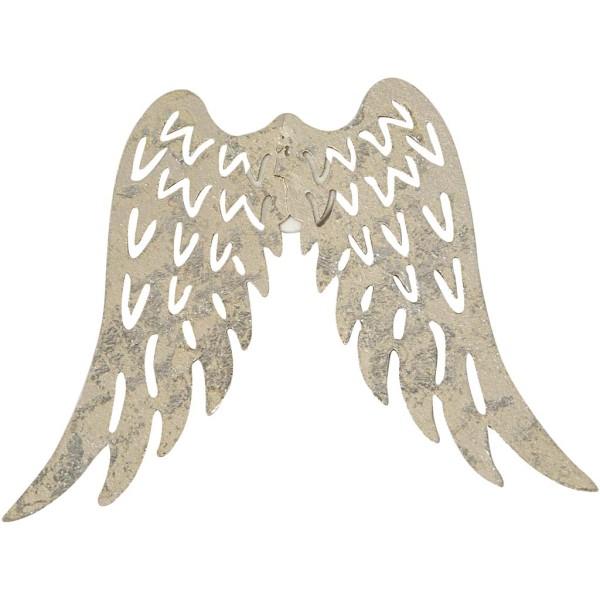 Mini ailes en métal effet nacré - 6 x 7,5 cm - 5 pcs - Photo n°1