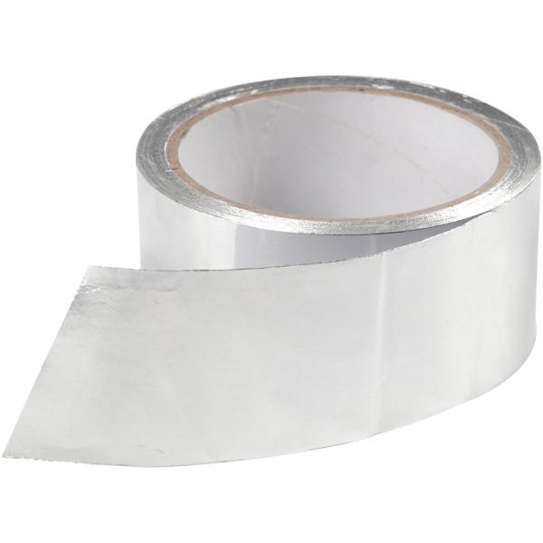 Masking tape - Aluminium argent - 5 cm x 20 m - Photo n°1