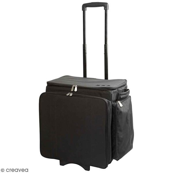 Valise de rangement à roulette - Noir - 41 x 48 cm - Photo n°1