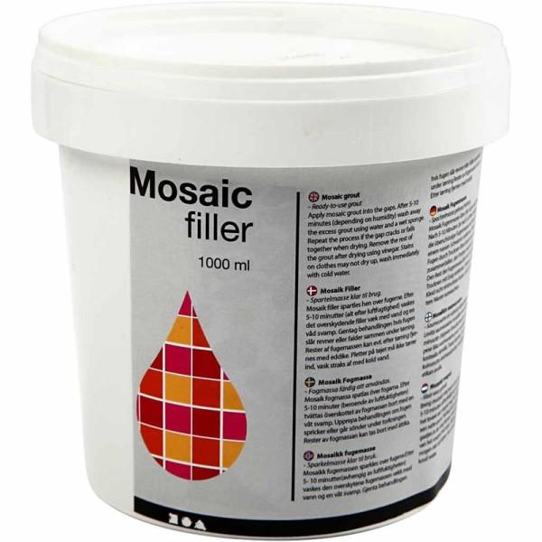 Joint pour mosaïque - Blanc - 1 L - Photo n°1