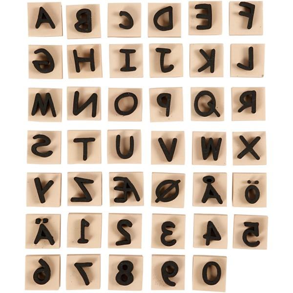 Tampons en mousse Lettres - 3 x 3 x 1,3 cm - 41 pcs - Photo n°1