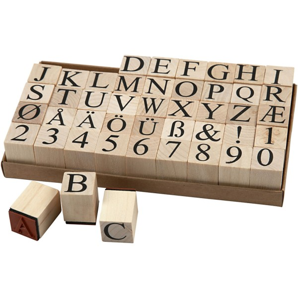 Assortiment de tampons en mousse Lettres - 2 x 2 x 1,5 cm - 45 pcs - Photo n°1