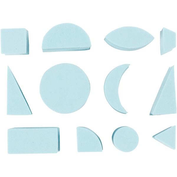 Lot de tampons en mousse EVA - Formes géométriques - 15 à 30 mm - 12 pcs - Photo n°1
