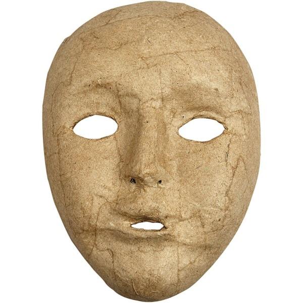 Masque visage enfant en papier mâché - 12,5 x 17,5 cm - Photo n°1