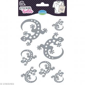 Sticker textile - Salamandre pailletée - 7 transferts thermocollants