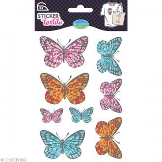 Sticker textile - Papillon Liberty - 8 transferts thermocollants