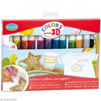 Feutres Colors paint 3D Aladine - 12 feutres