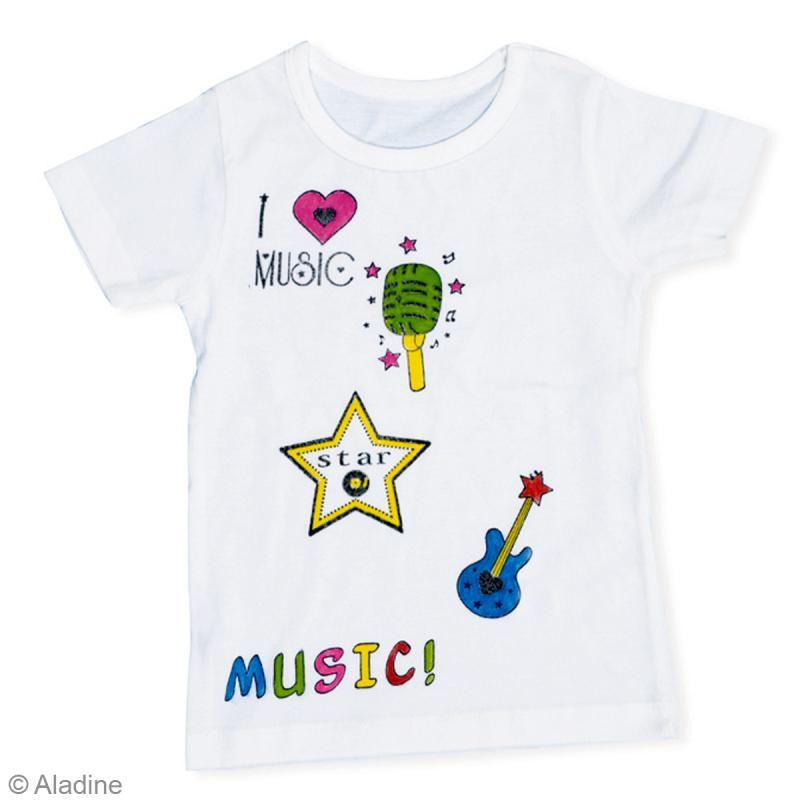 Feutre textile Colors t-shirt Aladine - 10 feutres permanents - Photo n°3