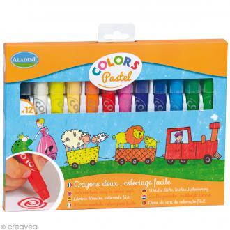 Crayons de coloriage Colors Pastel - 12 crayons
