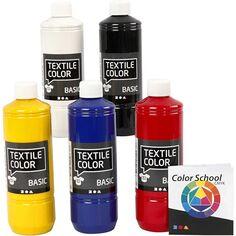Gamme de teinture textile - 5 x 500 ml