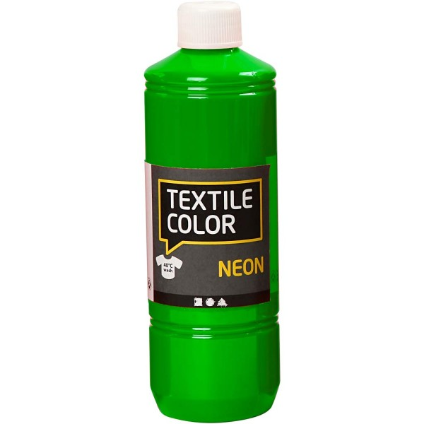 Peinture tissu Textile Color Neon - Vert fluo - 500 ml - Photo n°1