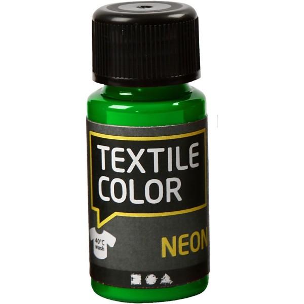 Peinture tissu Textile Color Neon - Vert fluo - 50 ml - Photo n°1
