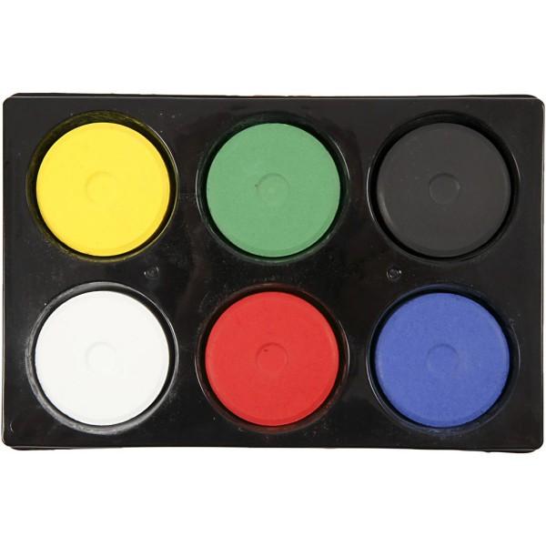 Palette de gouache - Grand format - 6 couleurs primaires - Photo n°1