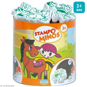 Kit 10 tampons enfant - Stampo'minos Cheval