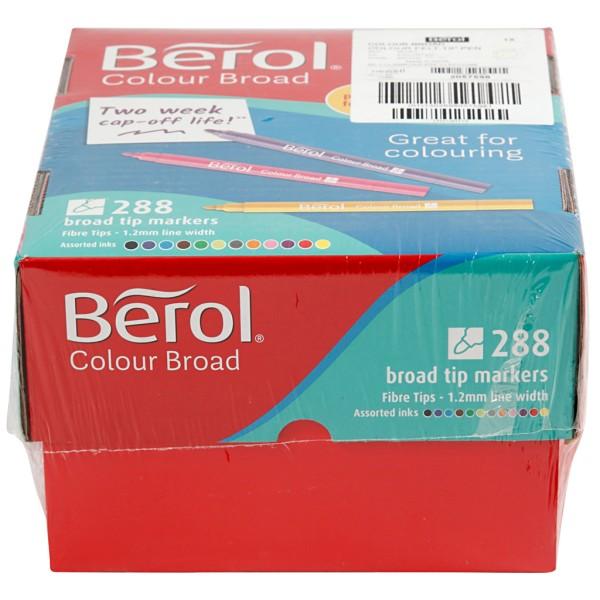 Feutre Berol, trait: 1,2 mm, d: 10 mm, 288 pièces, Couleurs assorties - Photo n°2