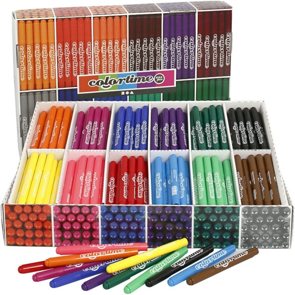 Lot de feutres coloriage - 12 couleurs - 576 pcs - Photo n°1