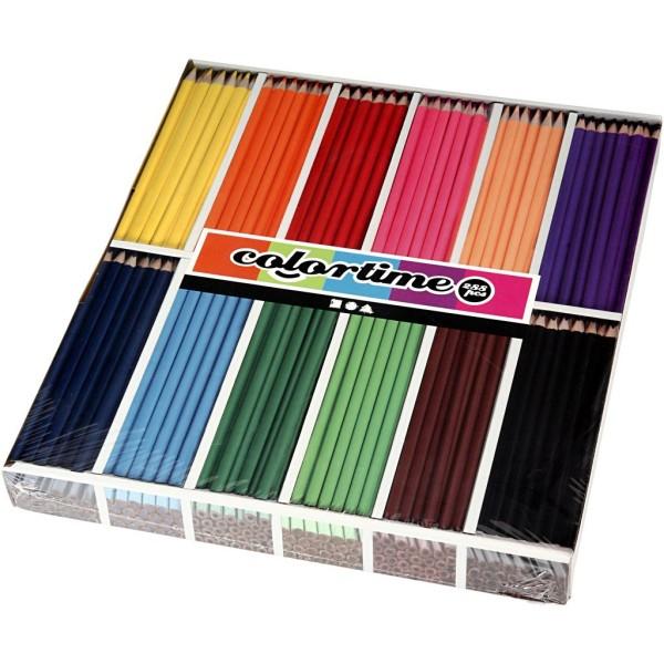 Assortiment Crayons de couleur - 3 mm - 288 pcs - Photo n°1