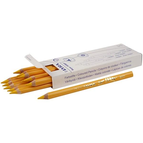 Crayons de couleur Lyra Super Ferby 1, L: 18 cm, mine: 6,25 mm, 12 pièces, jaune - Photo n°1