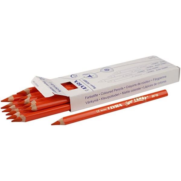 Crayons de couleur Lyra Super Ferby 1, L: 18 cm, mine: 6,25 mm, 12 pièces, orange - Photo n°1