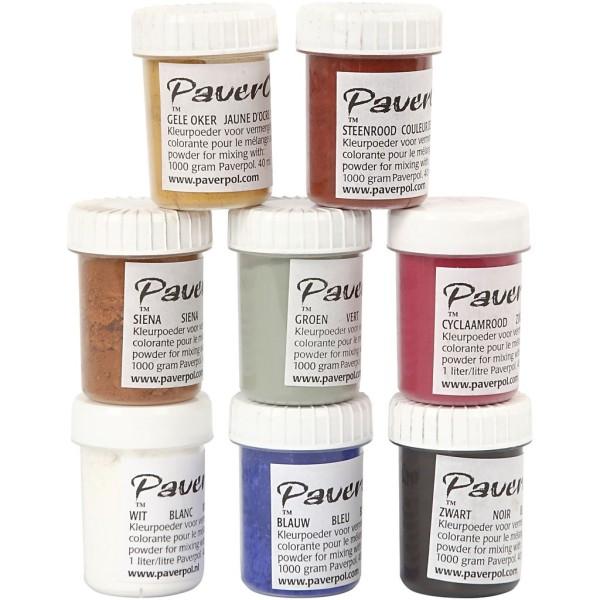 Assortiment de poudres colorantes Paver Color 40 ml - 8 pcs - Photo n°1