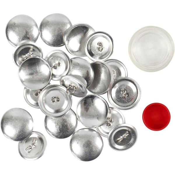 Boutons en métal à décorer - 22 mm - 12 pcs - Photo n°1