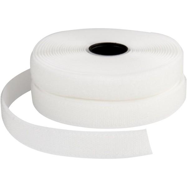 Ruban non-adhésif - Blanc - 20 mm x 5 m - Photo n°1