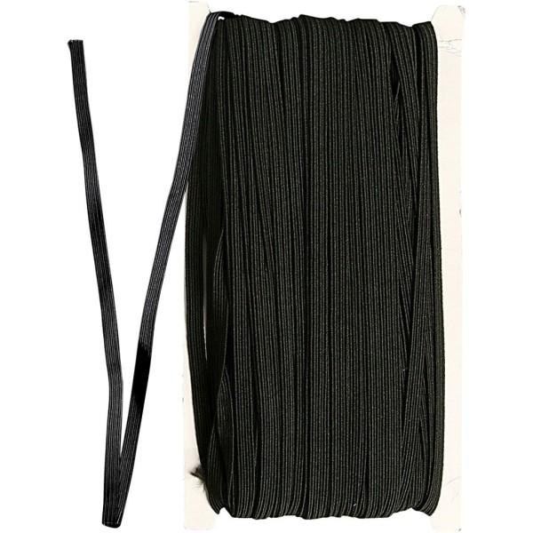 Fil cordon élastique 6 mm - Noir - 50 m - Photo n°1