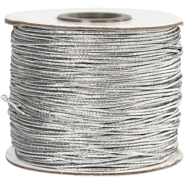 Fil élastique Argent - 1 mm - 100 m - Photo n°1