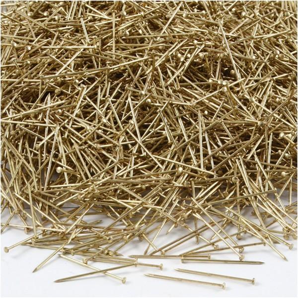 Epingles à tête dorées - Longueur 18 mm - Environ 10000 pcs - Photo n°1