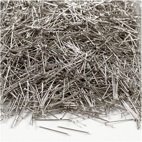 Epingles à tête argentées - Longueur 18 mm - Environ 10000 pcs - Photo n°1