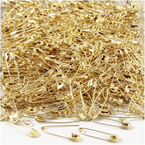 Lot d'épingles à nourrice dorées - 22 mm - 500 pcs - Photo n°1