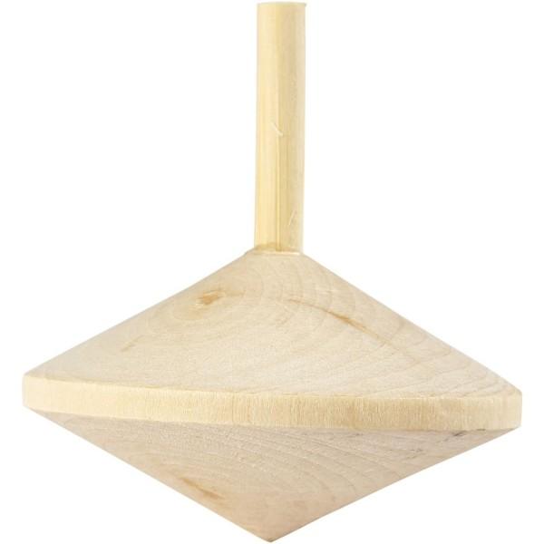 Toupie en bois à décorer - 5,5 cm x 5 cm - Photo n°1