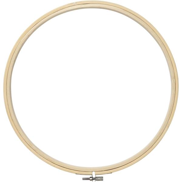 Cadre tambour broderie 2 en 1 - Rond en bois - 25 cm - Photo n°1