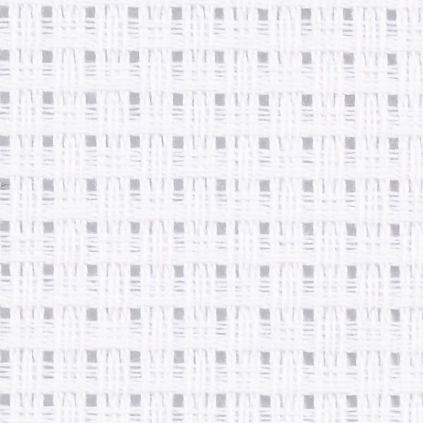 Toile à broder Aida - 3,5 pts/cm - Blanc - 50 x 50 cm - Photo n°1