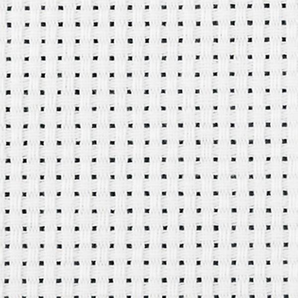 Toile point de croix Aida, l: 150 cm, 3 m, blanc - Photo n°1